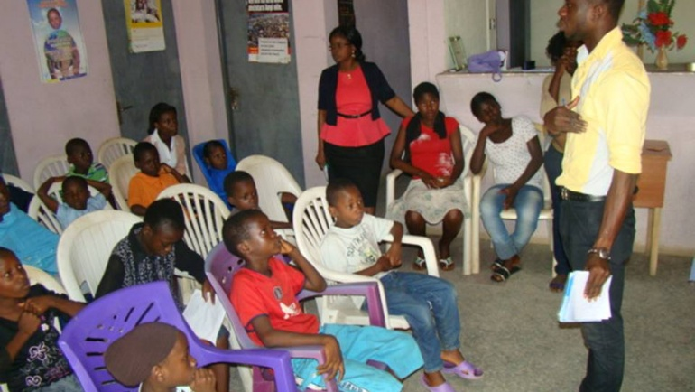 Cross section of our OVC's during their monthly kids club meeting.