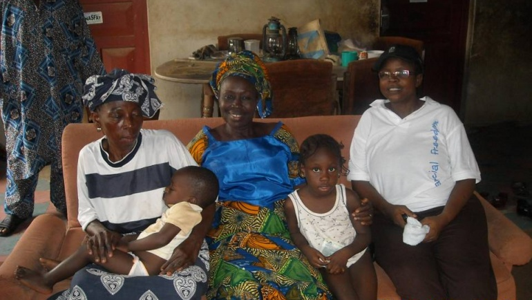 Home visit to vulnerable households by E.D Jim Paul Generation Next Initiative.