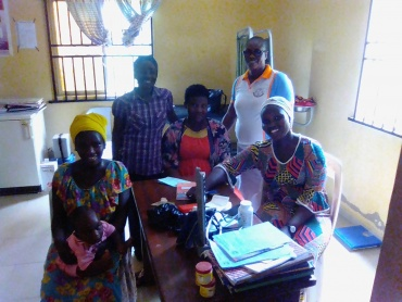 JPGNI Mrs Amolo with Ogede Community Health Center Staff